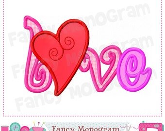 LOVE design,LOVE embroidery,LOVE applique,Mother's day,Heart embroidery,Heart applique,Valentine's day.-02