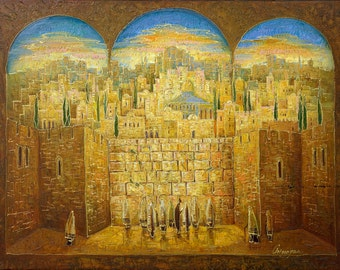 Oil on Canvas Original Signed Painting by Marina Grigoryan The Holy City Unique Art