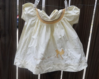 Sweet Baby Deer Dress - 12 months
