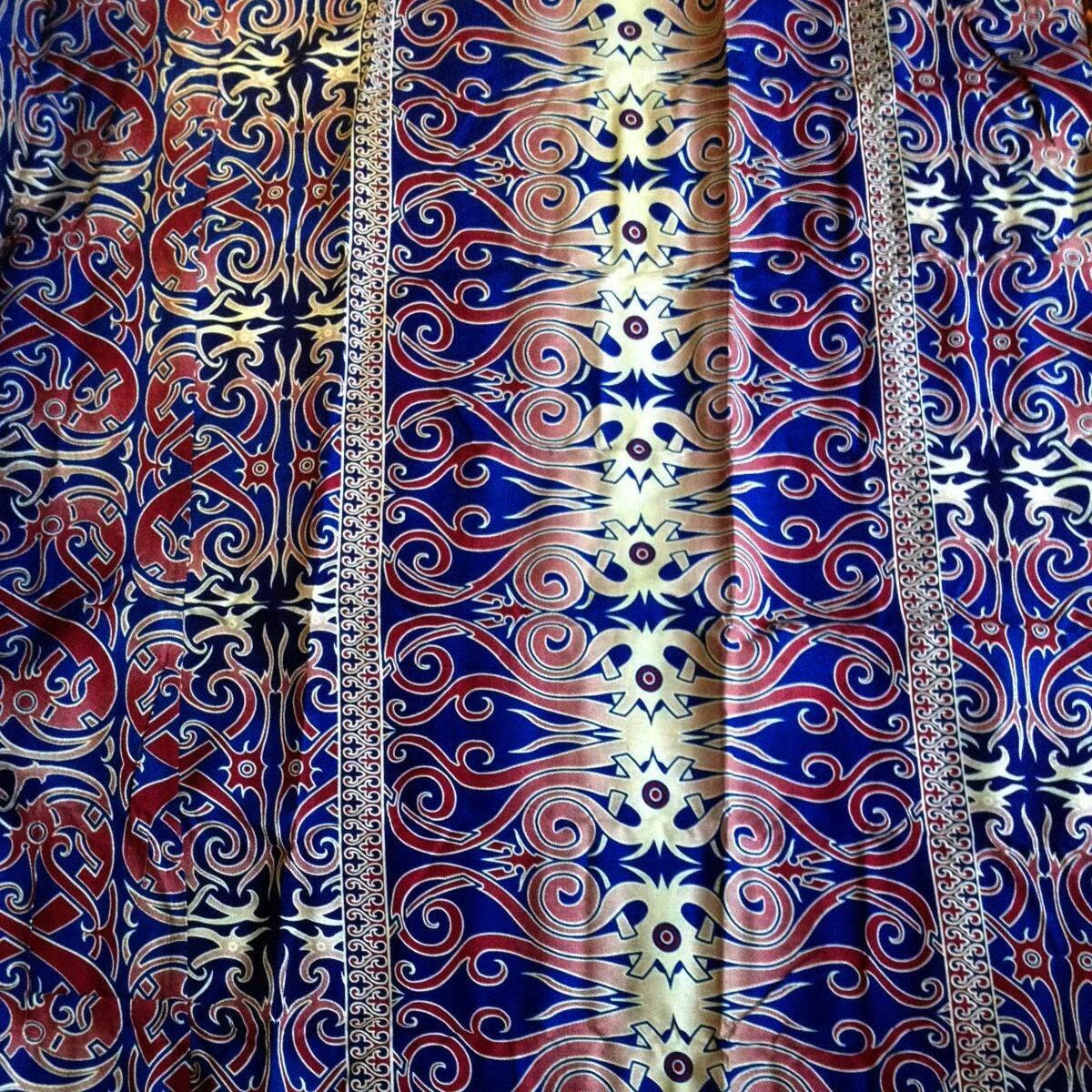 2 Yards Malaysian Borneo Ethnic Batik Fabric Sarong