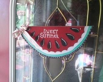 Watermelon Door Sign