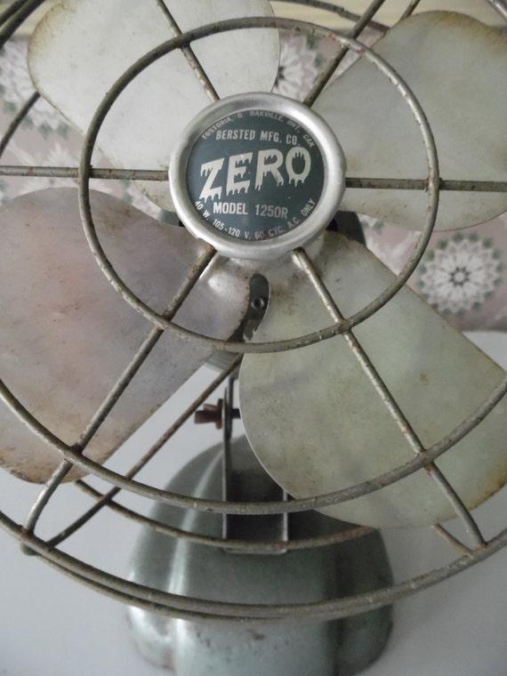 Vintage Zero Fan Wall Mount Fan Or Table Top Small By