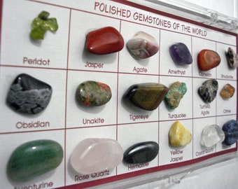 Natural Polished Gemstones Collection From Around The World