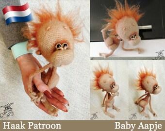 084NLY Baby aapje - Amigurumi Haak Patroon PDF file by Pertseva Etsy