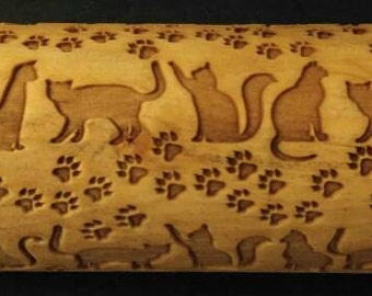 Cat Rolling Pin with Paws