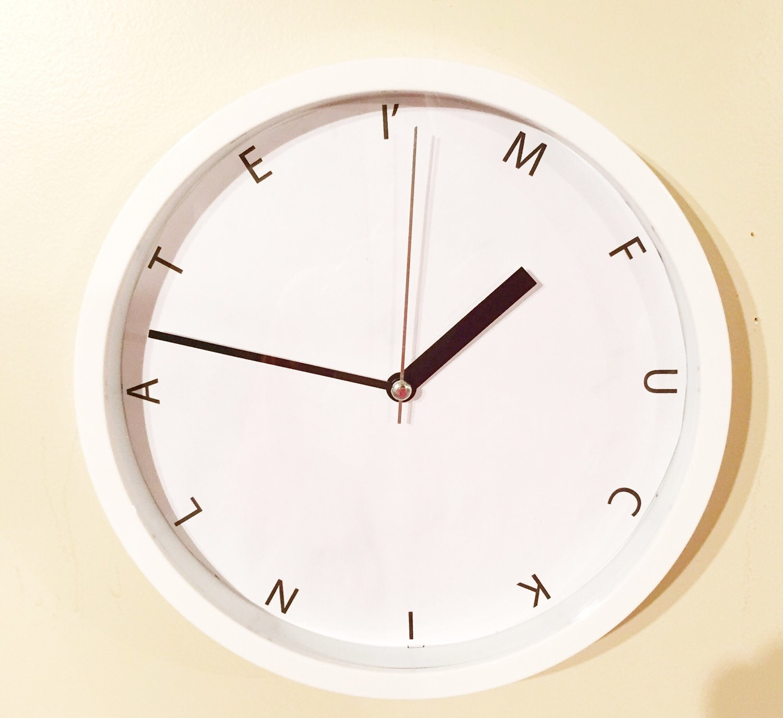i m fucking late mood wall clock humor wall clock