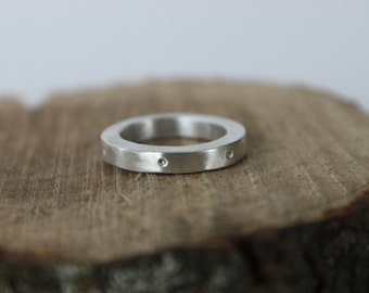 Sterling Silver Ring Band - Silver Band, Wedding Band, Artisan Ring, Sterling Silver Band, Silver Stacking Ring, Everyday Ring, Gift for Her