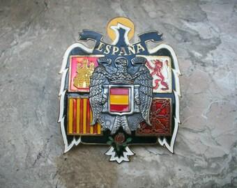 1960s Vintage Espana Automobile Federation Car Emblem AA Badge