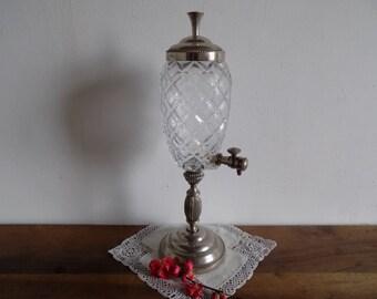 Wonderful vintage French absinthe water fountain, French barware circa mid century, 1950s.