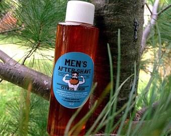 Citrus Rum Aftershave: Soothing/ Healing/ All Natural/ Vegan/ Handmade