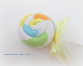 12 CT. Washcloth Lollipops, Diaper Cake, Baby Shower Favors, Baby Shower Decorations, Candy Baby Shower, Baby Shower Games, Centerpiece