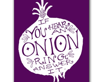 Print: Onion Ring Poster