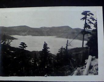 4 Vintage 1920's black & white-  landscape scenes photos 2.375 x 3.5