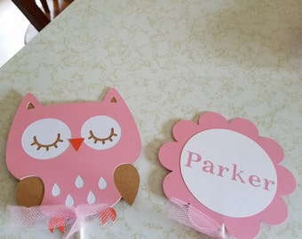 Owl centerpiece sticks, Owl baby shower centerpiece, Owl baby shower, Owl birthday