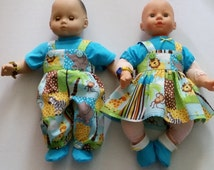 AG/15 Inch Bitty Baby Twin Size Doll Matchinbg Outfits