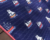Pirate ship baby boy blanket