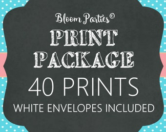 PRINT PACKAGE - 40 Invitations - White Envelopes Included
