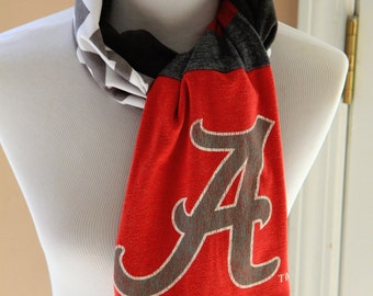 University of Alabama Scarf, Roll Tide, College, Game Day, Crimson Tide