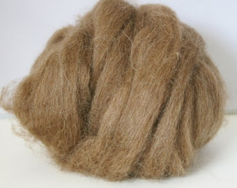 British Felting Wool Top - 25 g Shetland Moorit top - Natural, undyed British felting wool - natural brown felting wool