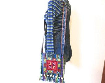 SALE 90s mini woven bag, woven bag, hippie boho, Aztec, shoulder bag, boho Kawaii Festival messenger bag, embroidered bag, 417/233