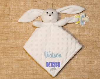 Embroidered Bunny Security Blanket