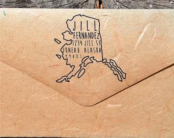 20% OFF NOW Alaska Address Stamp - Custom Alaska Address Stamp - (DBJ_154_Maxs5050)