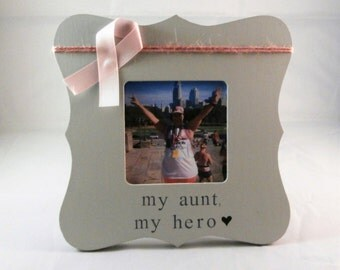My aunt my hero frame, breast cancer gifts in memory of sympathy gifts mom aunt sister breast cancer walk