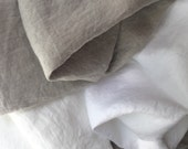 100% Linen sheets King, Queen, California King, Twin, linen  pillowcases. Softened, preshrunk, live-in linens