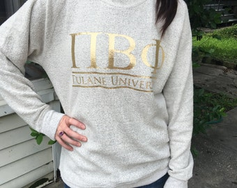 Sorority/School/Team Classic Bar Design Cozy Fleece Sweatshirt