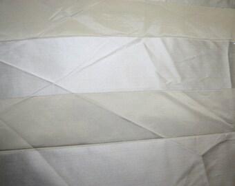Large Stripes Beige Upholstery Fabric Silky Cotton Blend Home Decor Sewing 61 x 98 cm Art&Craft Needlecraft Supplies