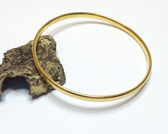 22ct Gold Plated, Sterling Silver Oval Bangle