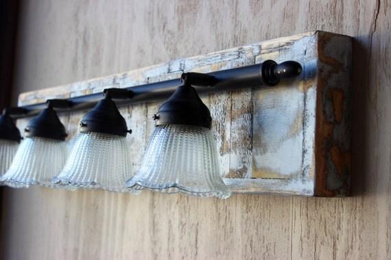 Rustic farmhouse bathroom vanity light 4 lights - Farmhouse bathroom vanity lights ...