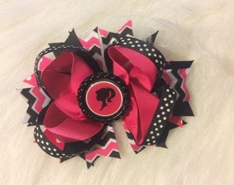 Boutique Style Stacked Handmade Hair Bow