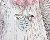 Personalized Urn Necklace, Your wings were ready but my heart was not, death of loved one, Urn Jewelry, Loss of loved ones, Bereavement,