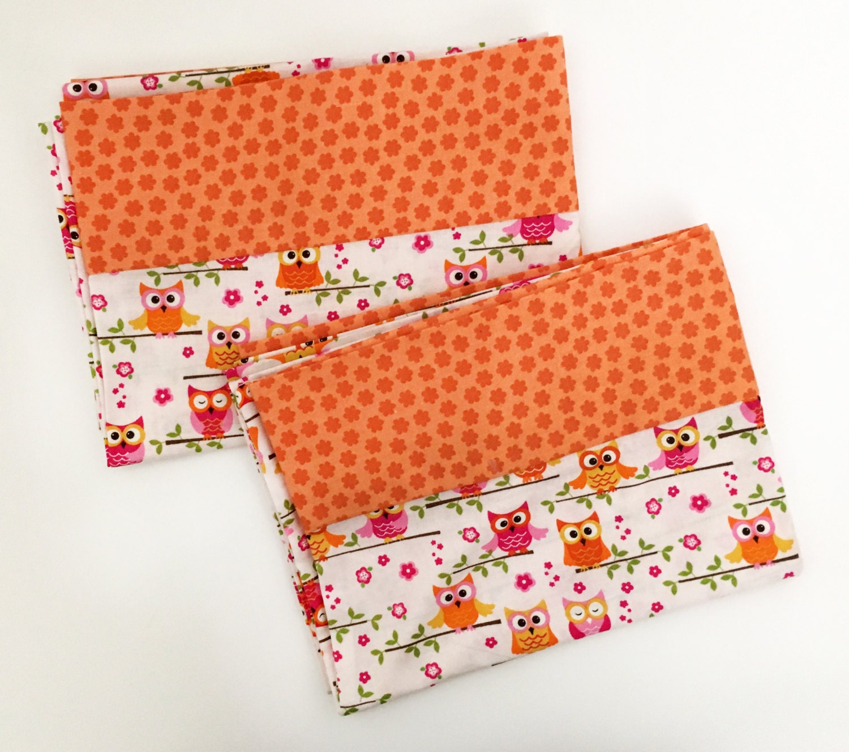Cute Owl Print Pillowcases. Pillowcase Set. Standard Pillow
