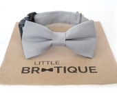 Grey Dog Bow Tie Sent 1-3 business days after you order