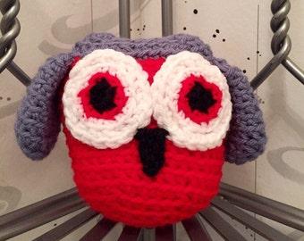 Owl plushie stuffed animal crocheted toy child safe baby gift toddler gift birthday gift