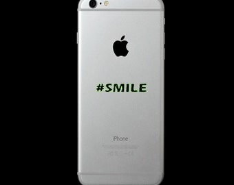 Smile Hashtag - Car Decal or Computer Decal