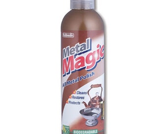 METAL MAGIC Clean, Shine, Protect Your Silver Metal Jewellery (200 mls cleaner) copper bronze aluminium stainless steel gold antique