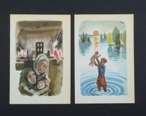 War prints, crime illustrations from a book, art prints