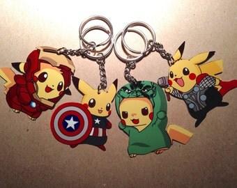 Avenger Pikachu Keychain