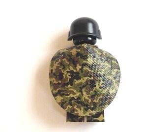 Custom made Woodland Camo Oval cape for minifigures