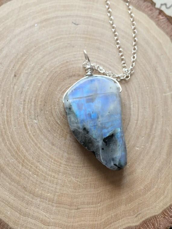 Moonstone Necklace Rainbow Moonstone Moonstone Moonstone
