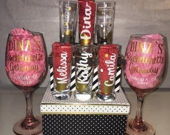 Bridal Party Custom Shot Glasses
