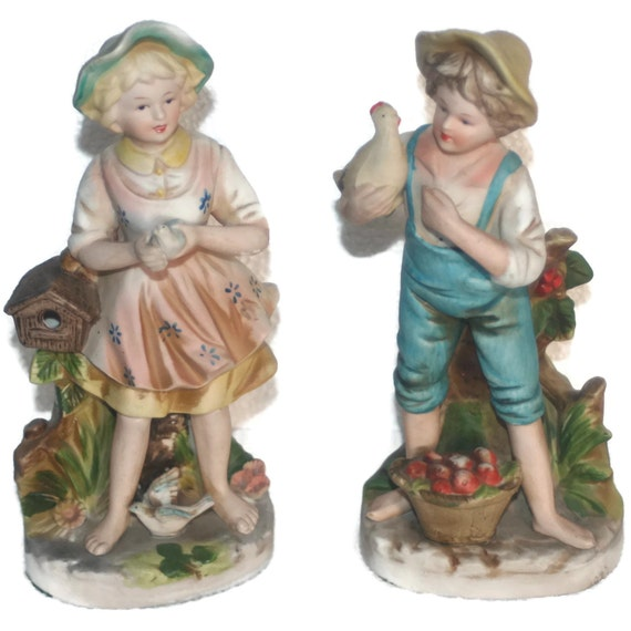 On sale vintage home interiors homco lady by vintagecastaways Home interiors figurines homco