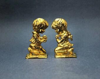 Miniature Praying Children Figurines