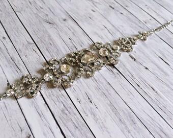 Silver bracelet - floral love node
