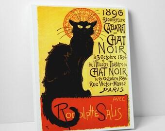 Vintage Apple 'Cavaret Du Chat Noir' Gallery Wrapped Canvas Print