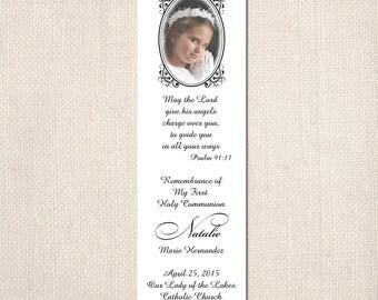 Communion baptims confirmation bookmark with picture frame religious cards shimmer paper pearl tarjetas para la comunion religiosa