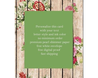 Beautiful Tropical Flowers green invitation party wedding birthday, quinceanera, sweet 15, bridal shower, quince,16, retirement announcement